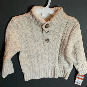 Cat & Jack NEW oatmeal pullover cardigan